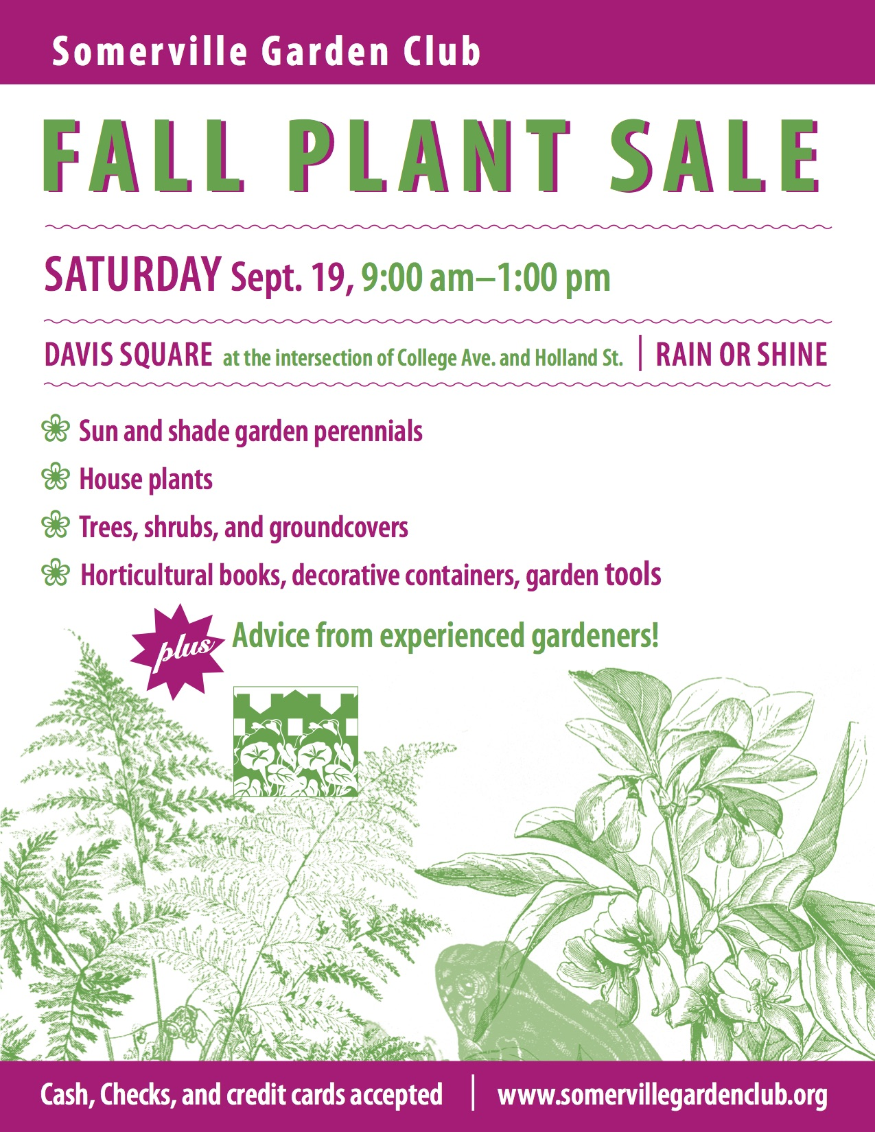 plant sale saturday september 19 2015 9am to 1pm